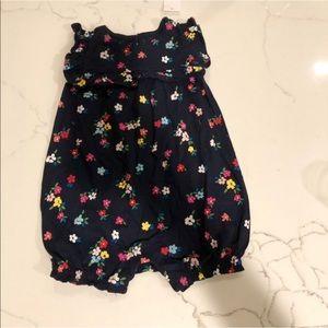 Baby Gap navy floral romper